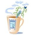 mug with a window vector image vector image