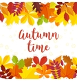 Autumn time lettering background Autumn vector image