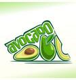 avocado fruits still life vector image