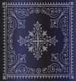 Beautiful Vintage Floral Dark Blue Background vector image