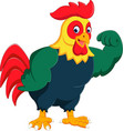 cartoon chicken rooster posing vector image