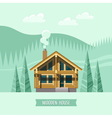 Chalet Wooden house Eco house vector image