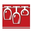 Glassware pub or bar icon vector image