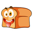 Loaf of bread with face vector image