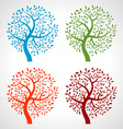 Set of Colorful Season Tree icons vector image