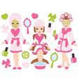 Spa Girls Set vector image