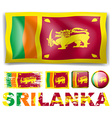 Sri Lanka flag in different designs vector image