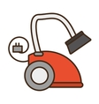 cartoon modern vacuum cleaner appliance electronic vector image