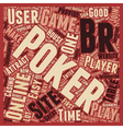 online poker sites 1 text background wordcloud vector image