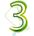 Green number 3 vector image vector image