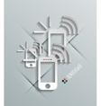 Phone 3d paper concept vector image vector image