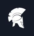 silhouette antiques greek helmet vector image