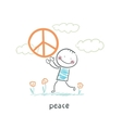 peace vector image vector image