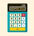 Calculator flat design icon vector image