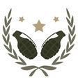 2 grenades emblem vector image