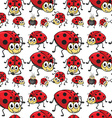 Seamless ladybugs vector image vector image