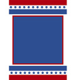 patriotic frame background vector image vector image