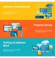 Program Development Banner Set vector image