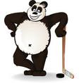 hockey panda vector image