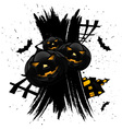 grungy halloween vector image