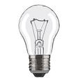 Hand-drawn light bulb on white background EPS8 vector image vector image