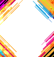 abstract colorful frame design vector image