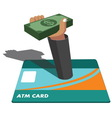 atm and money vector image