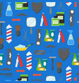 cartoon barbershop shop symbol background pattern vector image