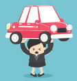 concept business woman debt from car vector image