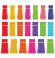 cosmetic bottles vector image