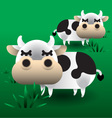 Cows on grass vector image