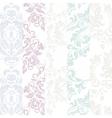 floral damask ornament patterns vector image