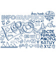 hand draw infographics education vector image