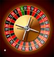 Roulette wheel vector image