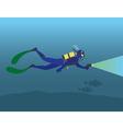 scuba diving vector image