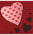 Valentines scrapbooking card vector image