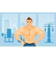 Fitness concept with sport bodybuilder man vector image