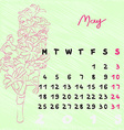 may 2015 flowers vector image vector image