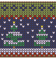 Seamless pattern with Christmas knitted a picture vector image