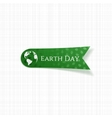 Earth Day realistic green Tag vector image