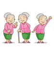old woman benign vector image