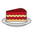 cake flat vector image