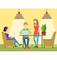 Coworking office flat style vector image