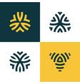 modern line logos set of creative geometric vector image