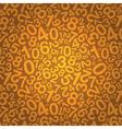 orange number background vector image