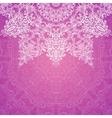 Pink ornate vintage wedding card background vector image