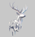 polygonal abstract stag vector image