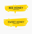 the stickers on the products of the apiary vector image