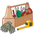 toolbox with many tools vector image