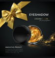 beauty eye shadows ads vector image